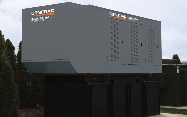 A Bi-fuel Generac industrial generator from Wolverine Power Systems in Michigan