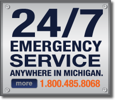 24 hour, 7 days a week emergency generator service anywhere in Michigan