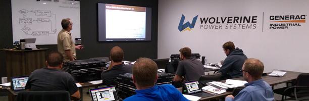Generac, Honeywell, Guardian, Eaton, and Siemens Generators Field Service Training in Michigan at Wolverine Power Systems