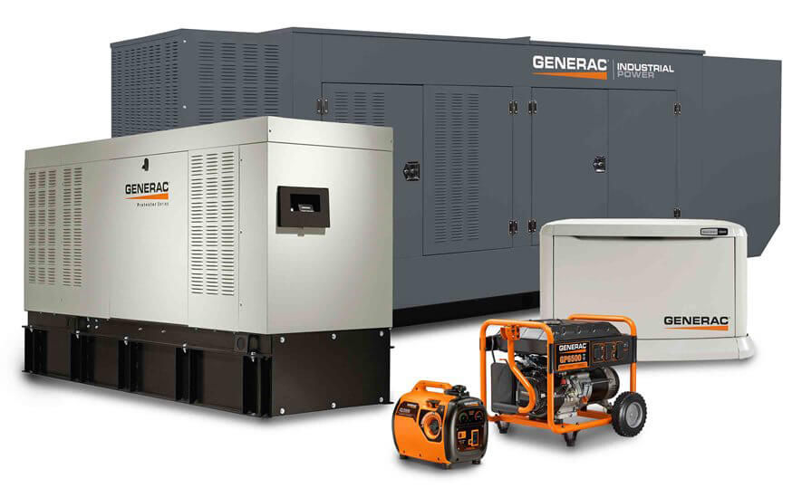 Generac generators for home or business at Wolverine Power Systems serving the entire state of Michigan - Natural gas generators, diesel generators and portable generators.