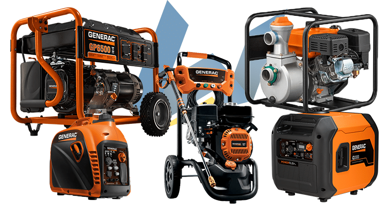 Generac portable generators, inverters, pressure washers, water pumps and more at Wolverine Power Systems of Michigan