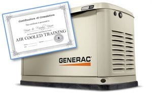 Generac certified air cooled generator class at Wolverine Power Systems located in Zeeland, MI