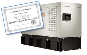 Generac certified Protector Series generator class at Wolverine Power Systems located in Zeeland, MI
