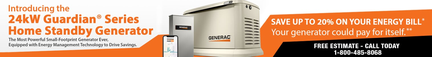 Generac 24kw home standby generator from Wolverine Power Systems in Michigan